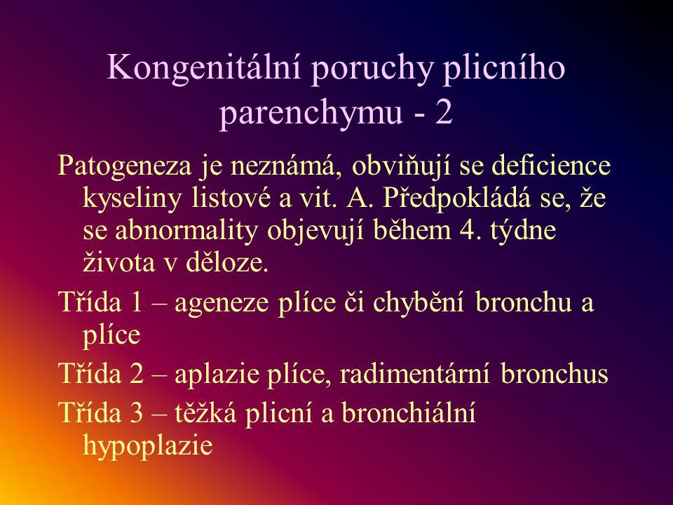 Kongenitální poruchy plicního parenchymu - 2