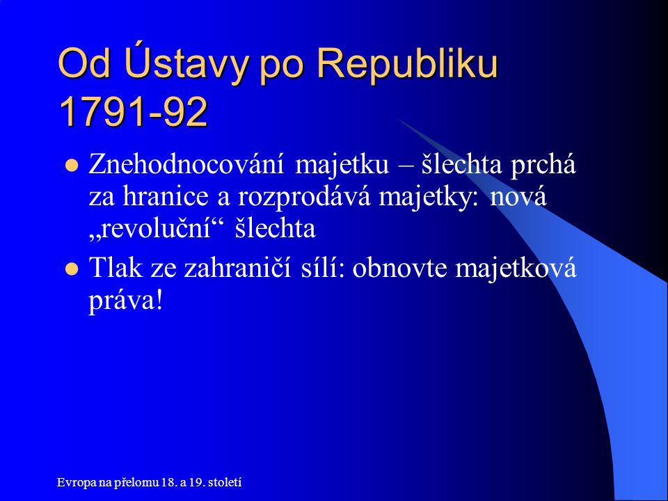 Od Ústavy po Republiku 1791-92