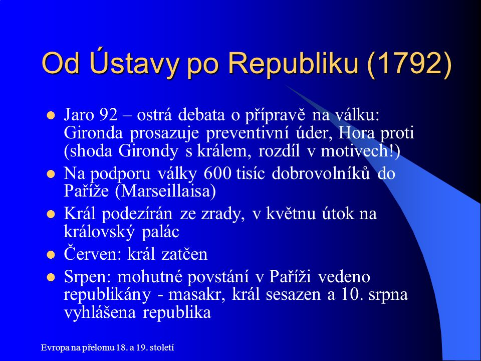 Od Ústavy po Republiku (1792)