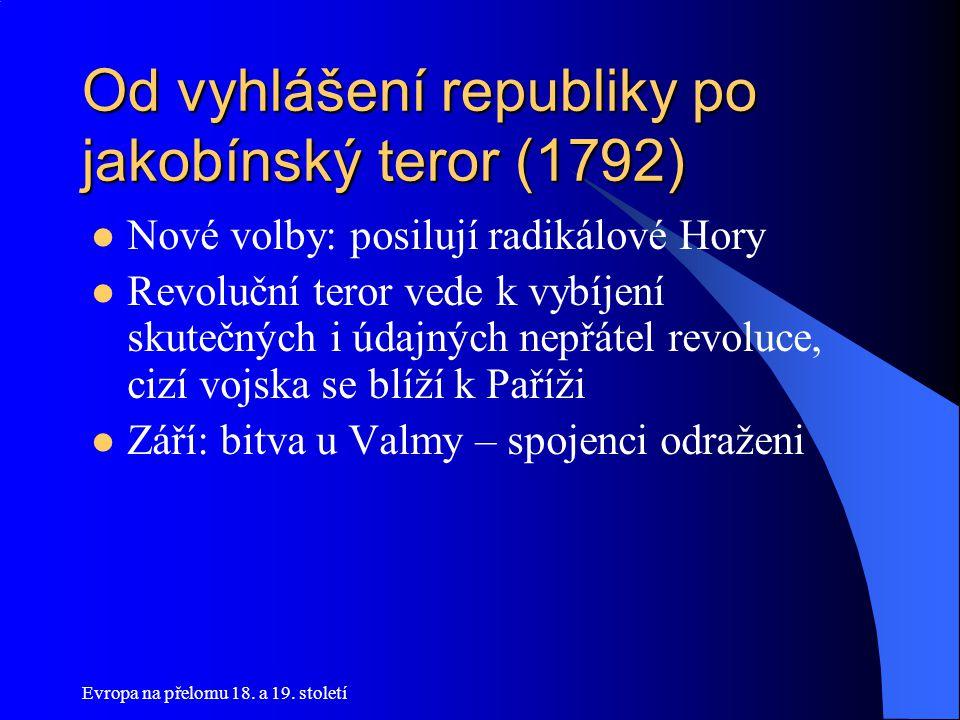 Od vyhlášení republiky po jakobínský teror (1792)