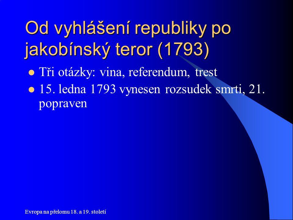 Od vyhlášení republiky po jakobínský teror (1793)