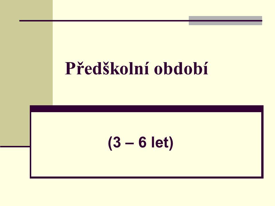 Předškolní období (3 – 6 let)