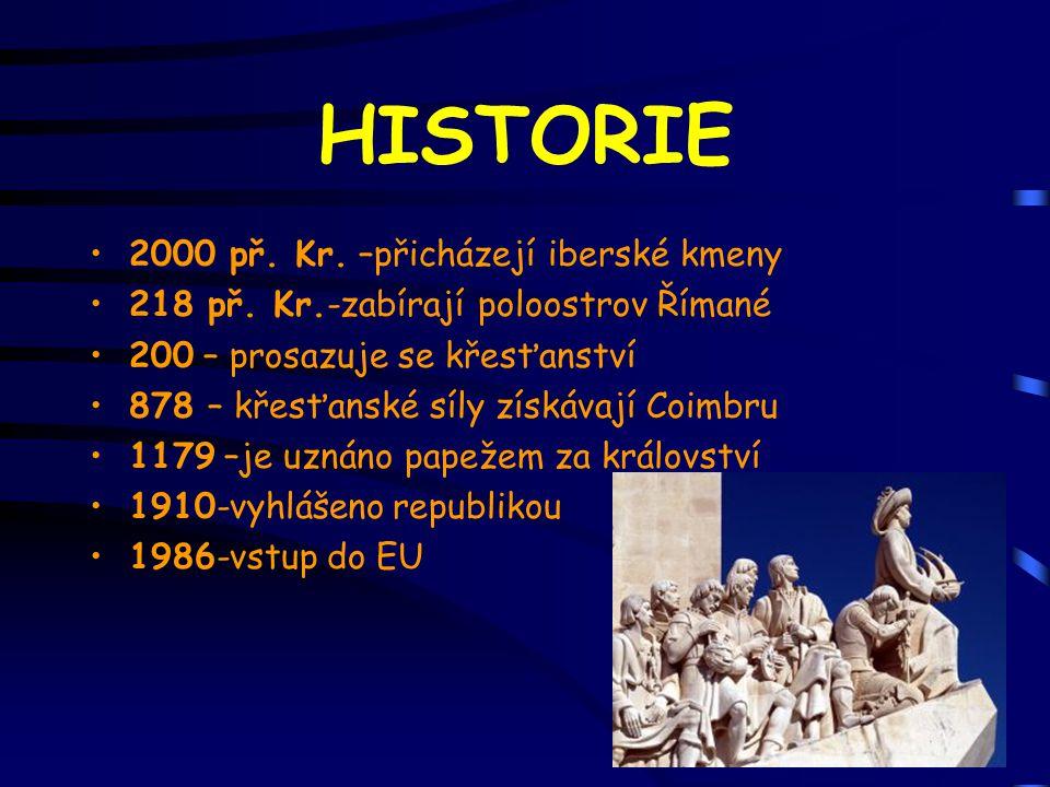 HISTORIE 2000 př. Kr. –přicházejí iberské kmeny