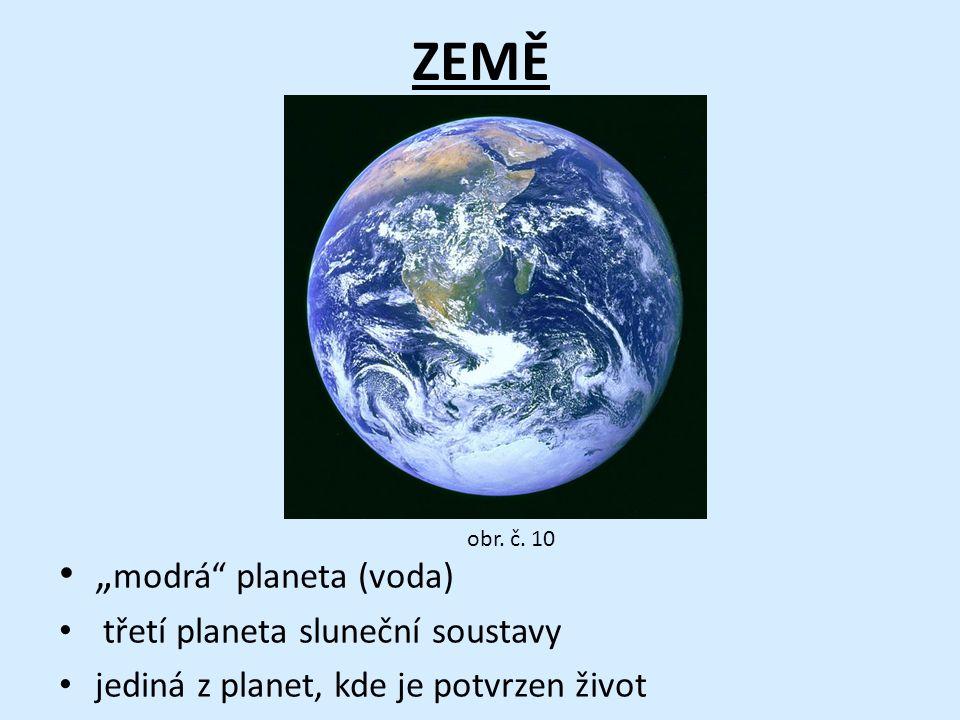"""ZEMĚ """"modrá planeta (voda) třetí planeta sluneční soustavy"""