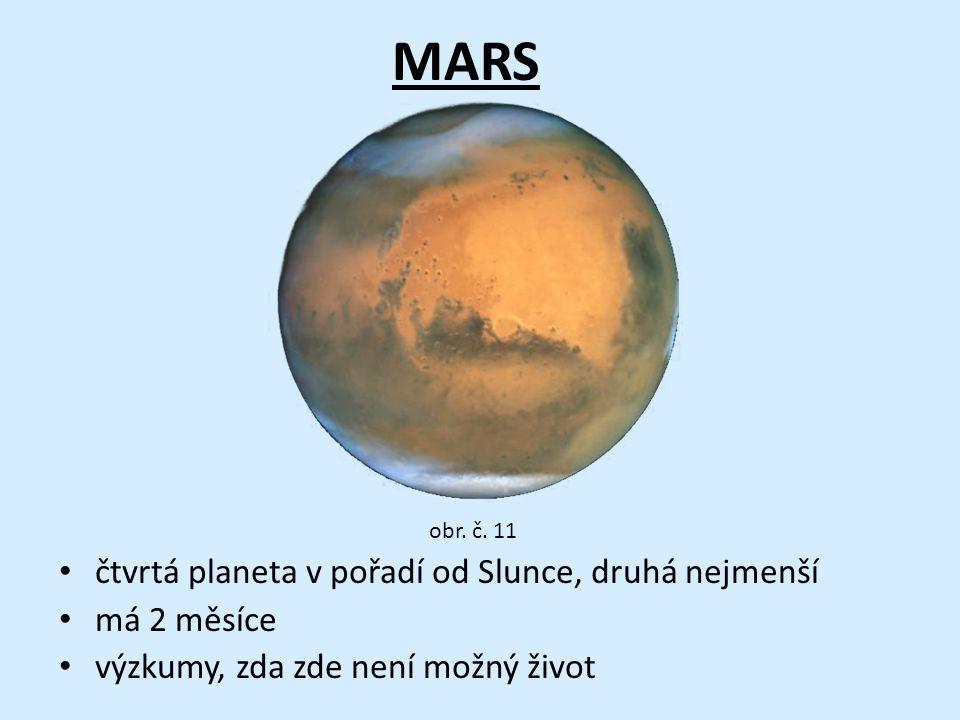 MARS čtvrtá planeta v pořadí od Slunce, druhá nejmenší má 2 měsíce