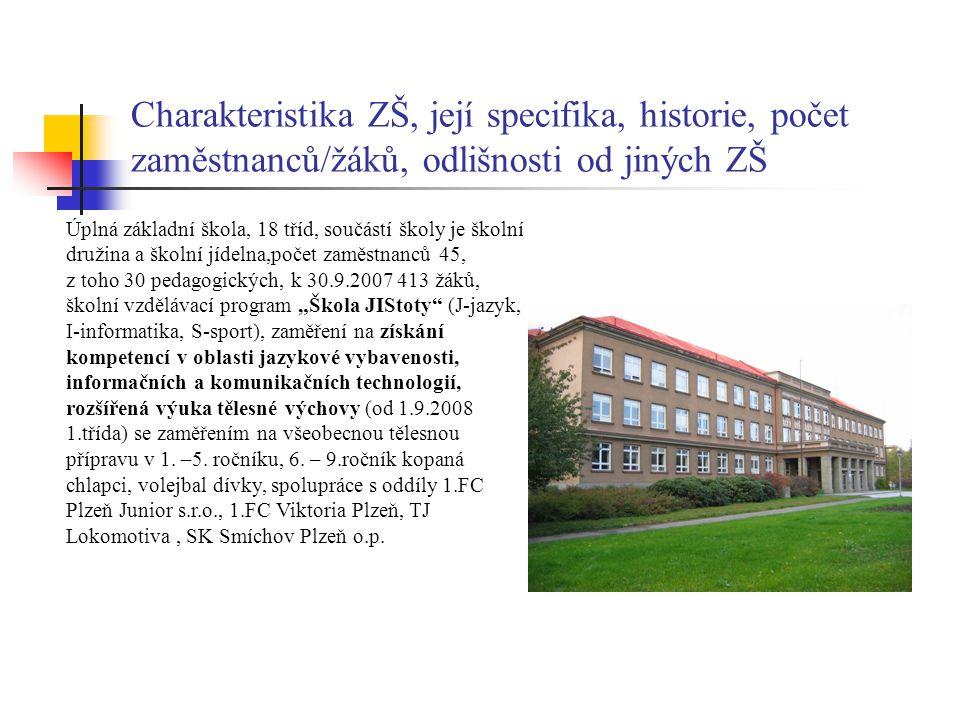 Charakteristika ZŠ, její specifika, historie, počet zaměstnanců/žáků, odlišnosti od jiných ZŠ