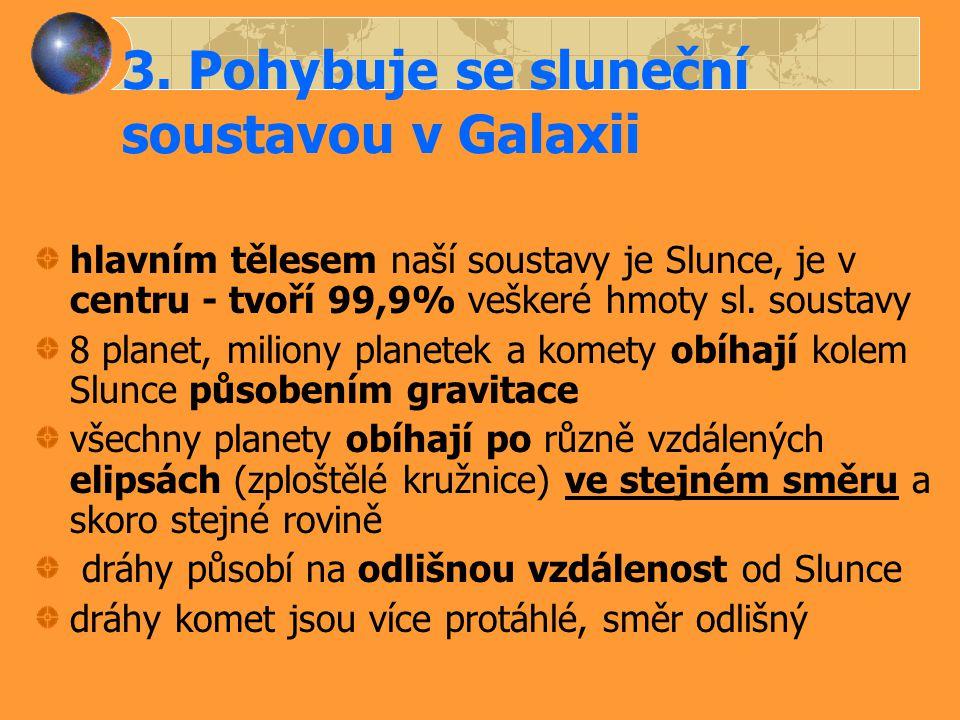 3. Pohybuje se sluneční soustavou v Galaxii