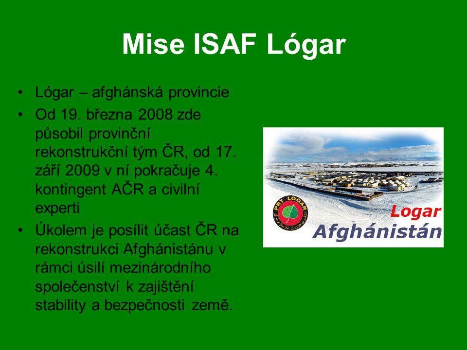 Mise ISAF Lógar Lógar – afghánská provincie