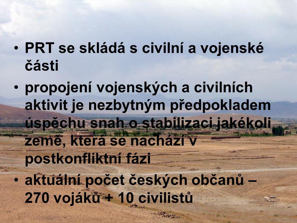 PRT se skládá s civilní a vojenské části