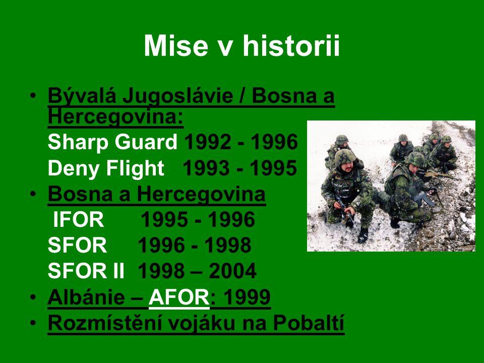 Mise v historii Bývalá Jugoslávie / Bosna a Hercegovina: