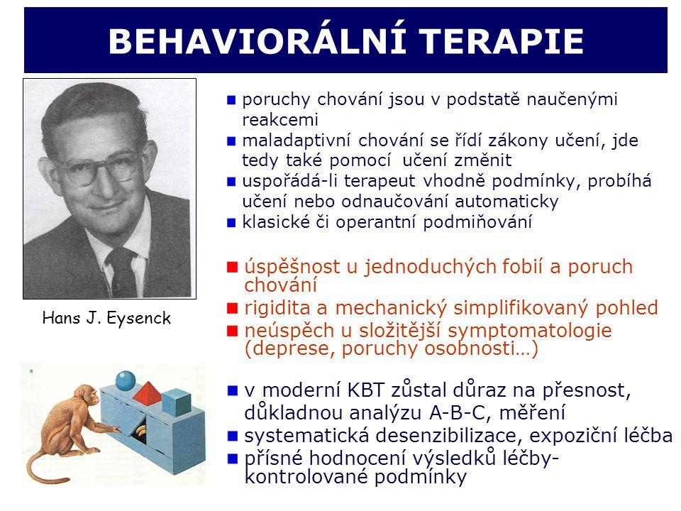 BEHAVIORÁLNÍ TERAPIE úspěšnost u jednoduchých fobií a poruch chování