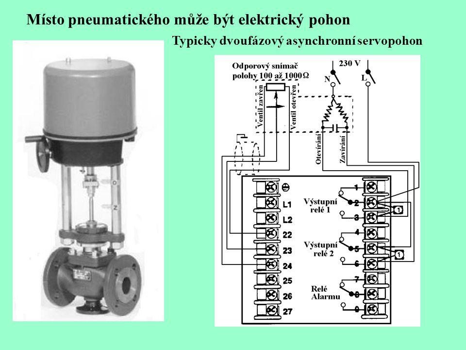 Místo pneumatického může být elektrický pohon