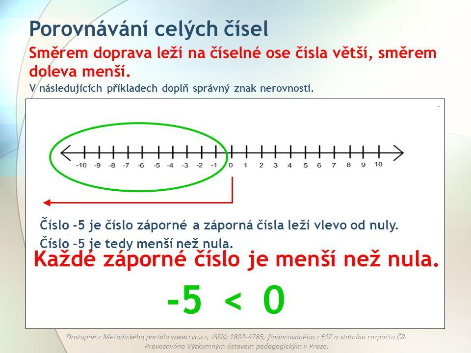 -5 < Každé záporné číslo je menší než nula.