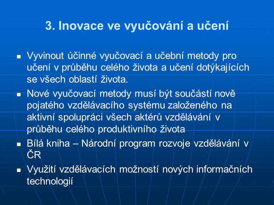 3. Inovace ve vyučování a učení
