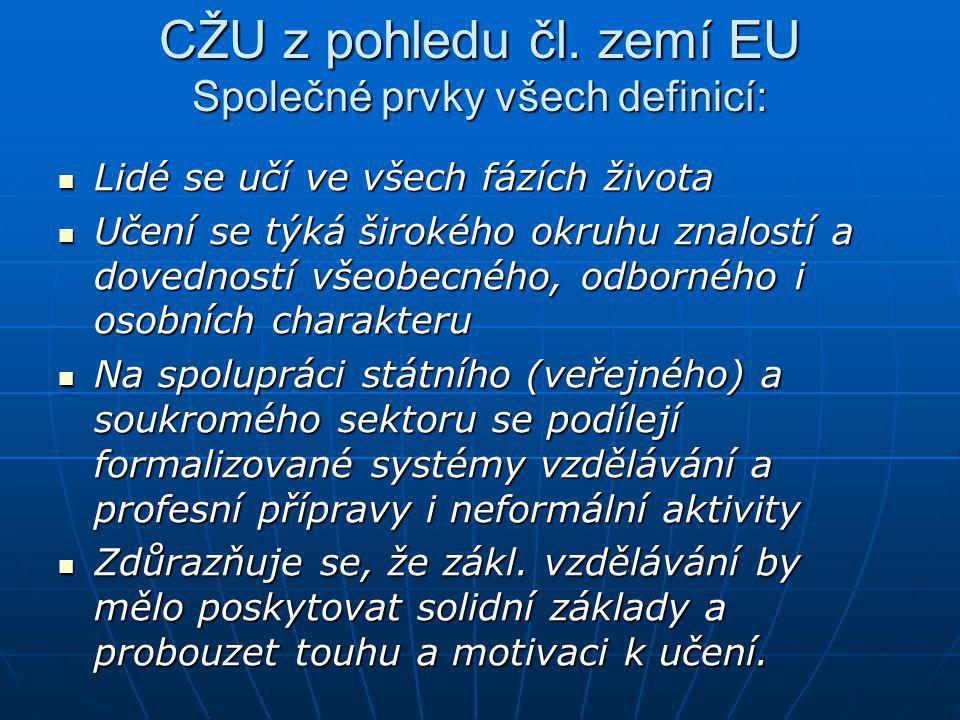 CŽU z pohledu čl. zemí EU Společné prvky všech definicí: