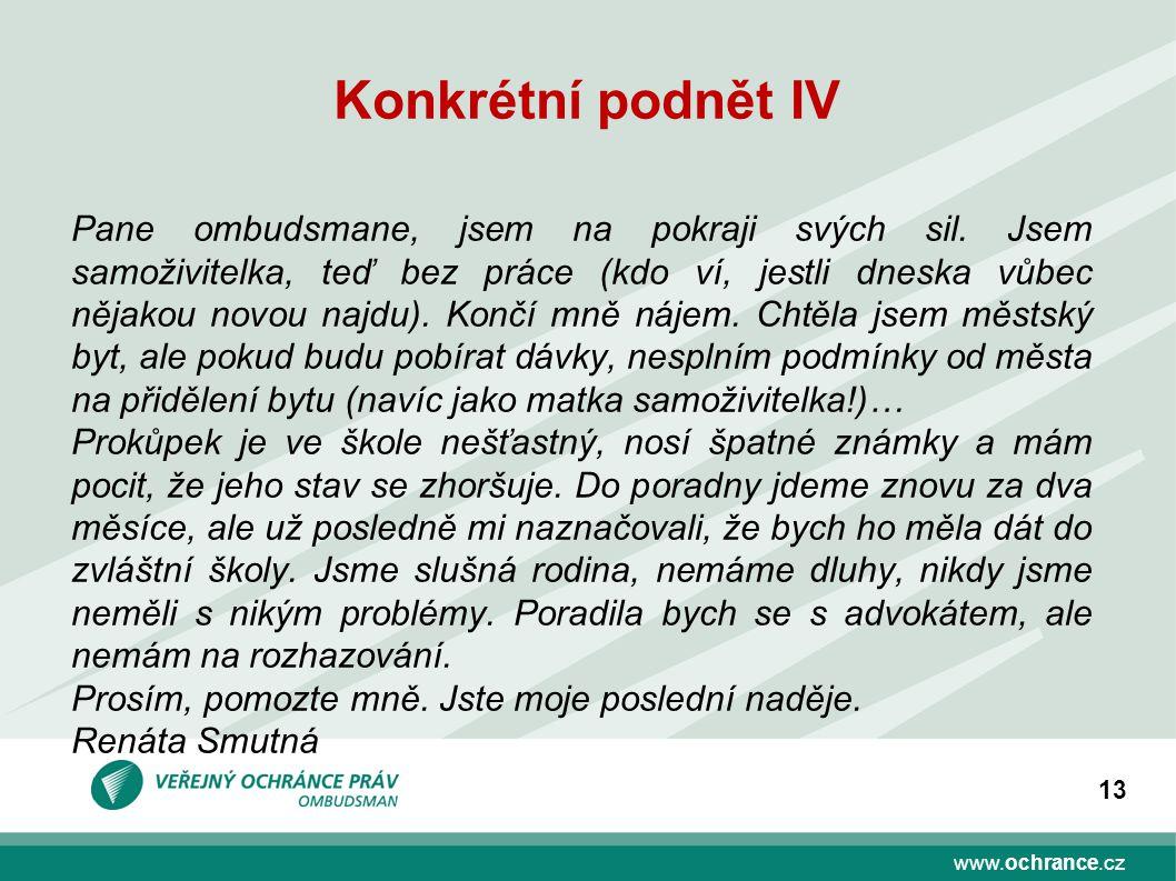 Konkrétní podnět IV