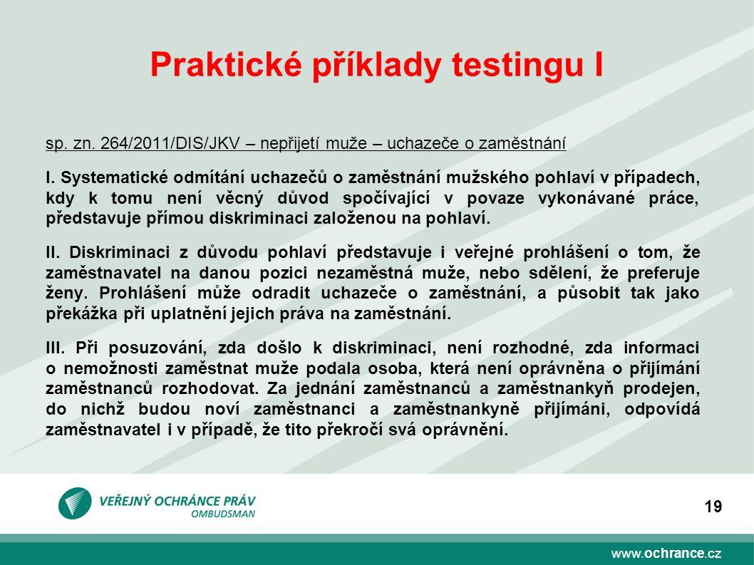 Praktické příklady testingu I