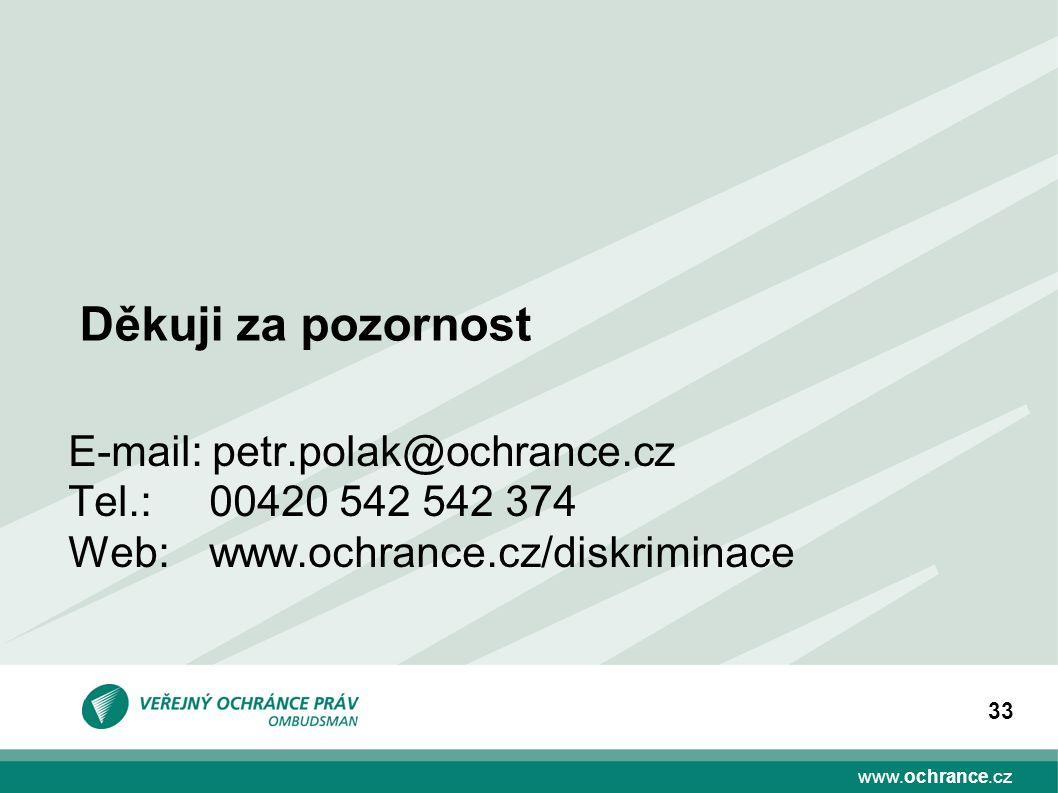 Děkuji za pozornost E-mail: petr.polak@ochrance.cz