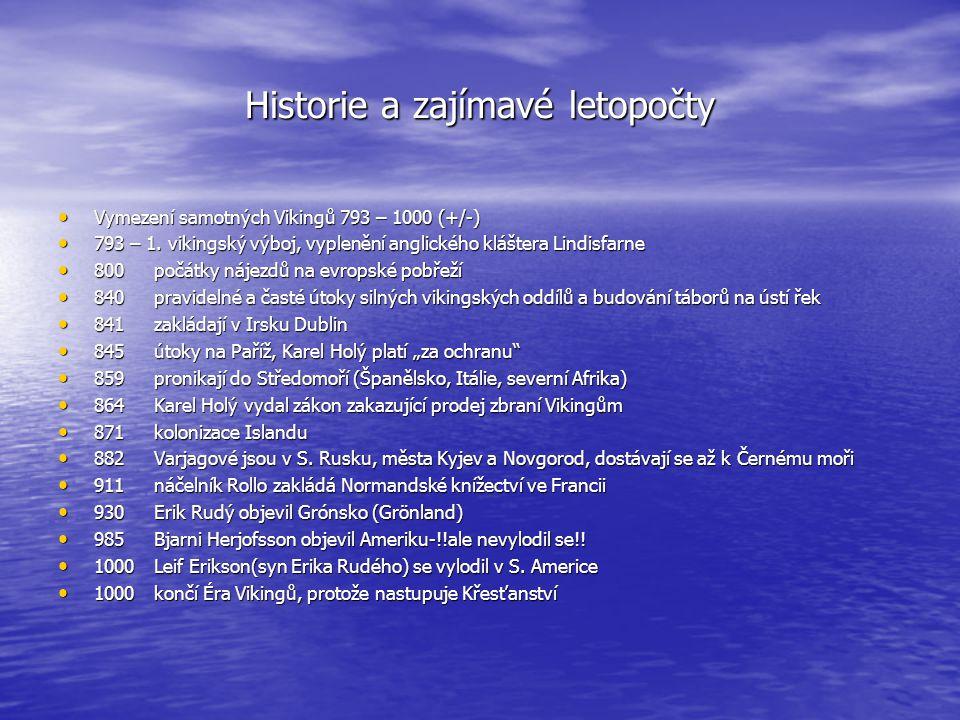Historie a zajímavé letopočty