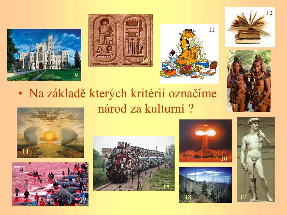 Na základě kterých kritérií označíme národ za kulturní