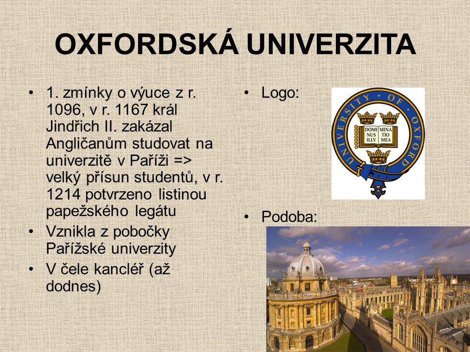 OXFORDSKÁ UNIVERZITA