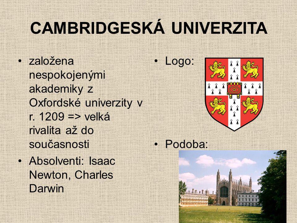 CAMBRIDGESKÁ UNIVERZITA
