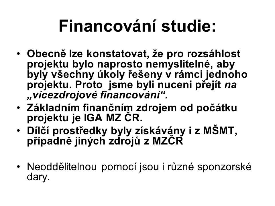 Financování studie:
