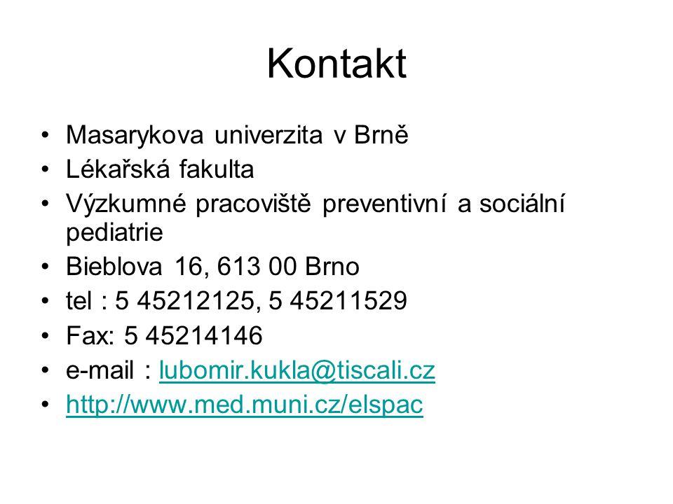 Kontakt Masarykova univerzita v Brně Lékařská fakulta