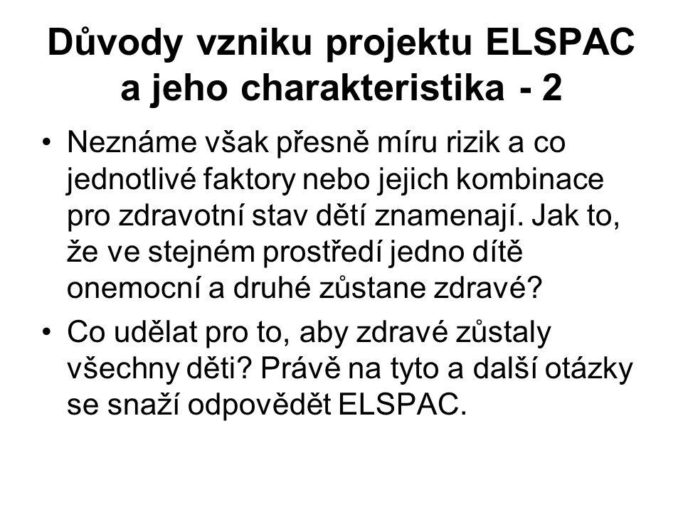 Důvody vzniku projektu ELSPAC a jeho charakteristika - 2