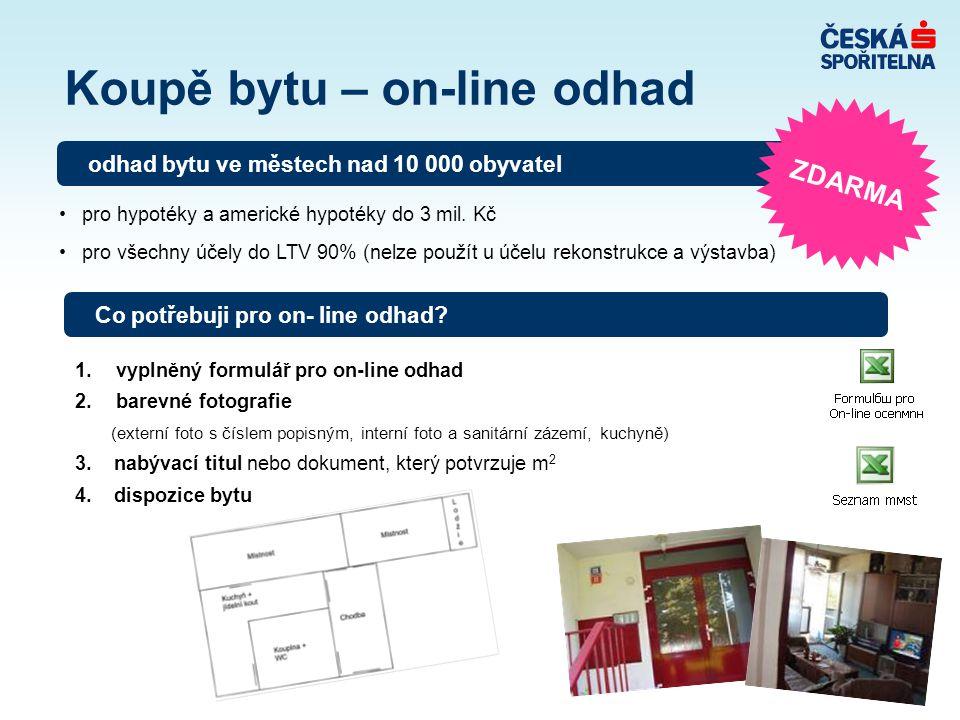 Koupě bytu – on-line odhad