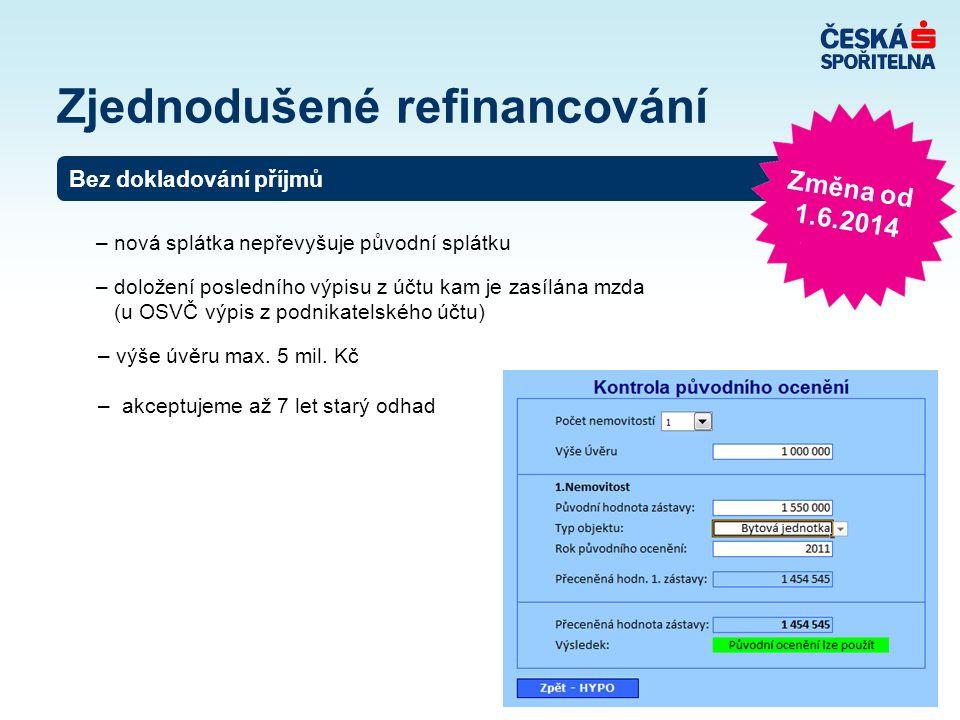 Zjednodušené refinancování