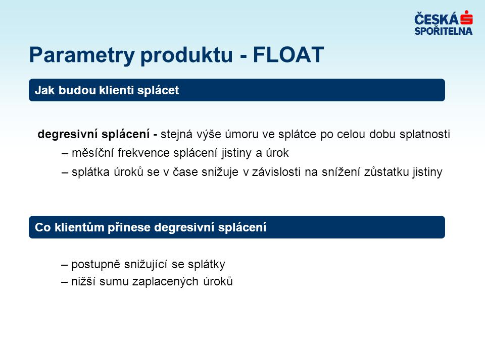 Parametry produktu - FLOAT