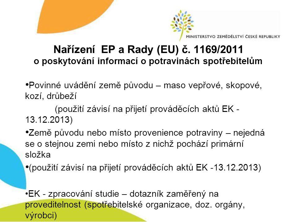 Nařízení EP a Rady (EU) č. 1169/2011
