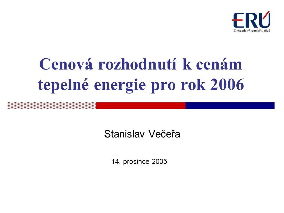 Cenová rozhodnutí k cenám tepelné energie pro rok 2006
