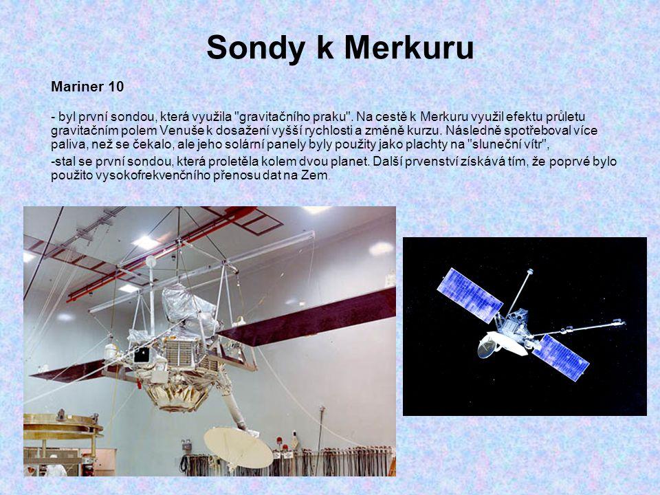 Sondy k Merkuru Mariner 10