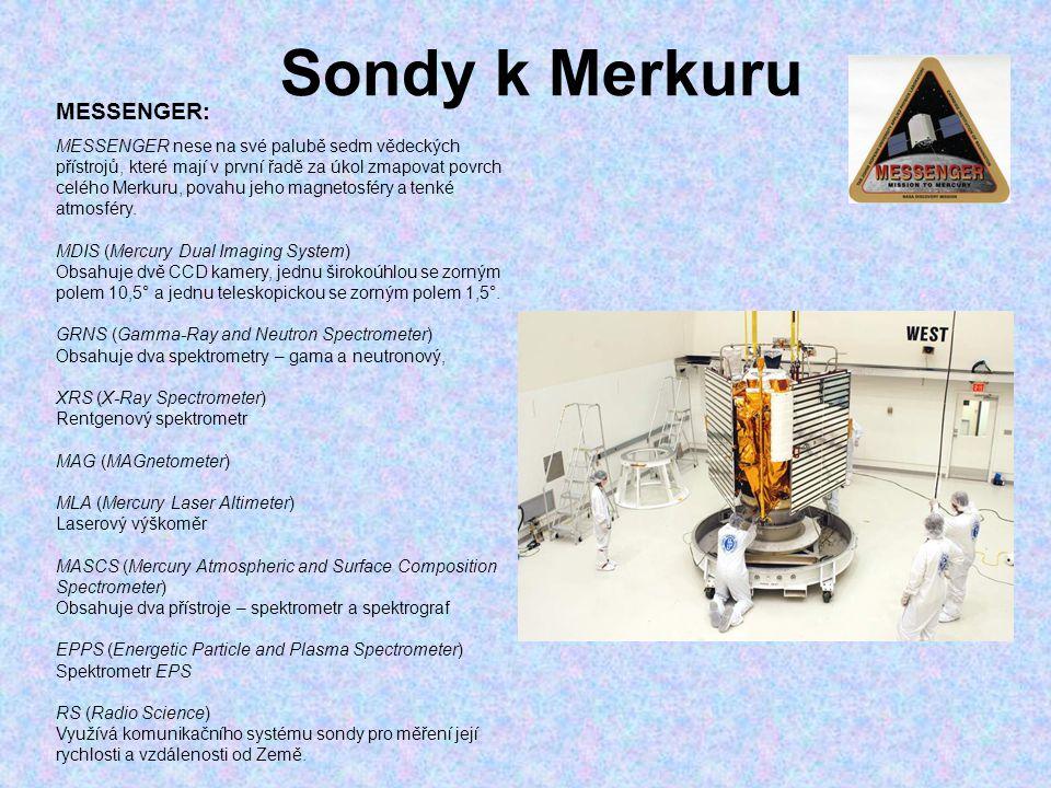 Sondy k Merkuru MESSENGER: