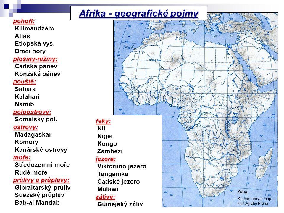 Afrika - geografické pojmy