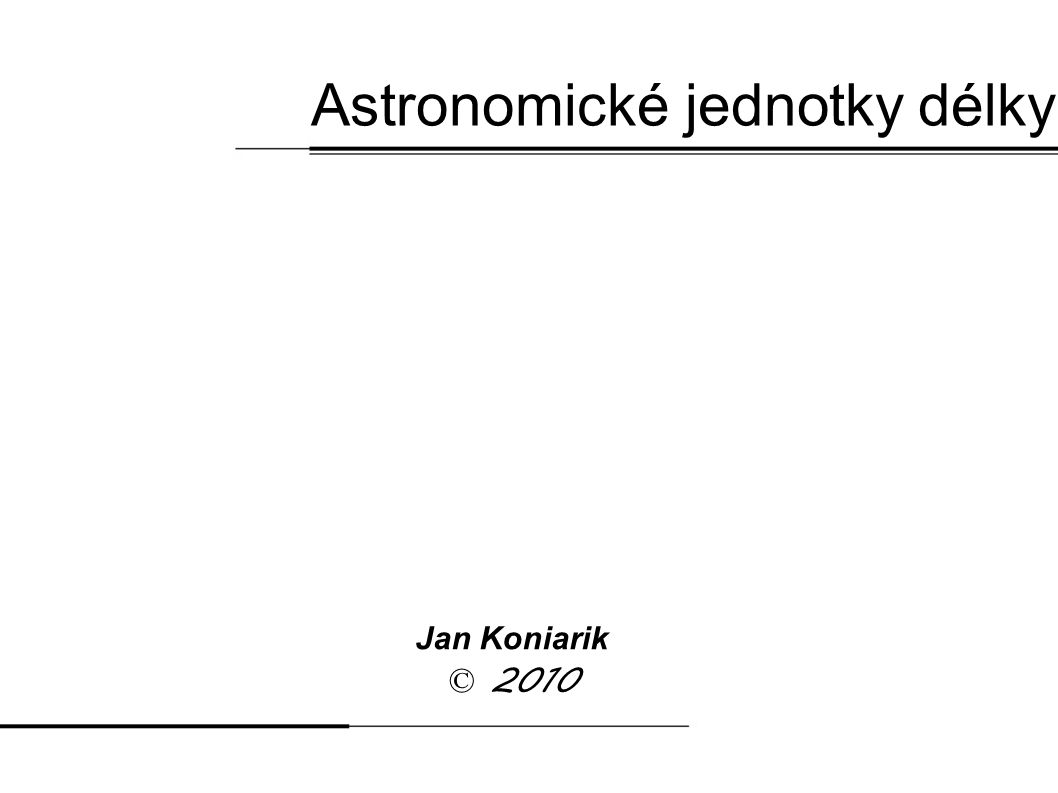 Astronomické jednotky délky