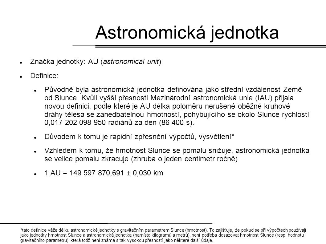 Astronomická jednotka