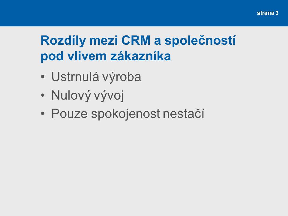Rozdíly mezi CRM a společností pod vlivem zákazníka