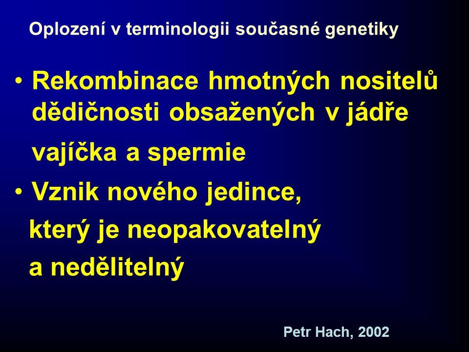 Oplození v terminologii současné genetiky