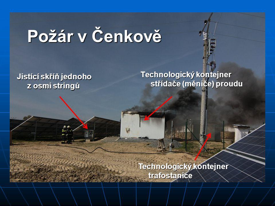 Požár v Čenkově Technologický kontejner střídače (měniče) proudu