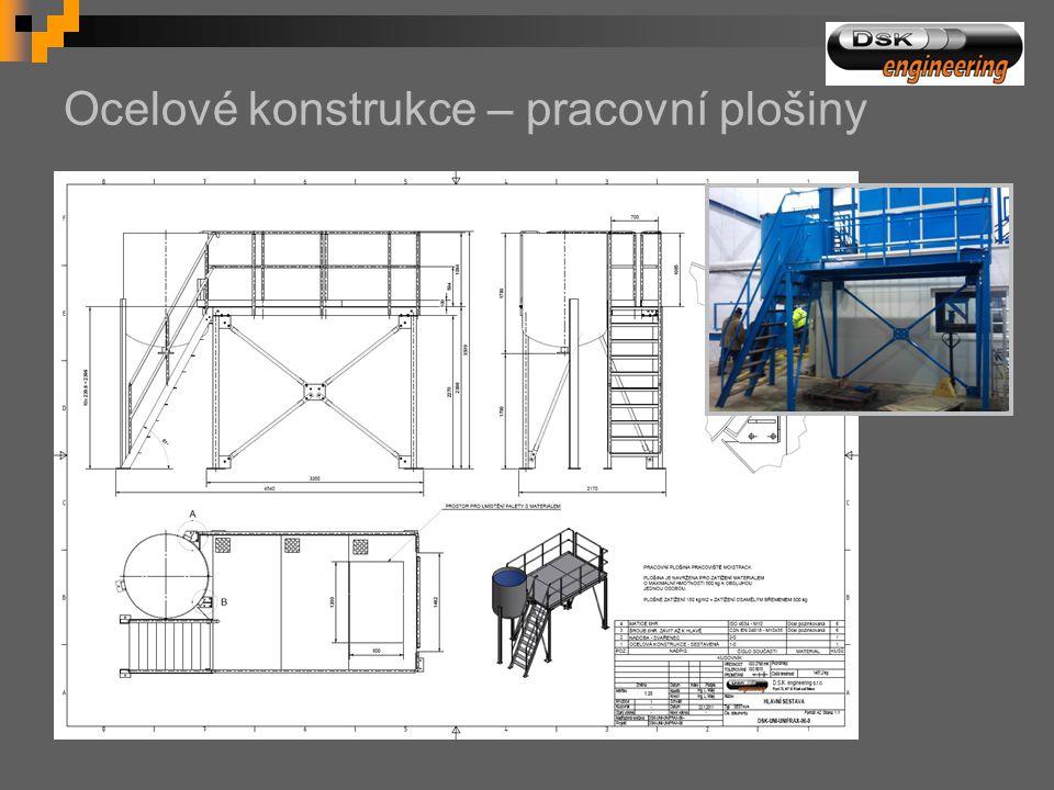 Ocelové konstrukce – pracovní plošiny
