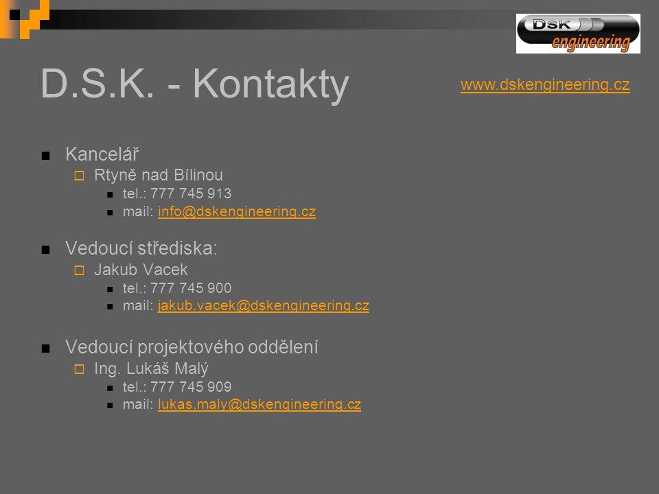 D.S.K. - Kontakty Kancelář Vedoucí střediska: