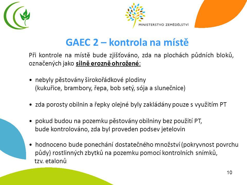 GAEC 2 – kontrola na místě