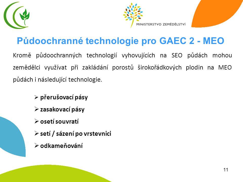 Půdoochranné technologie pro GAEC 2 - MEO