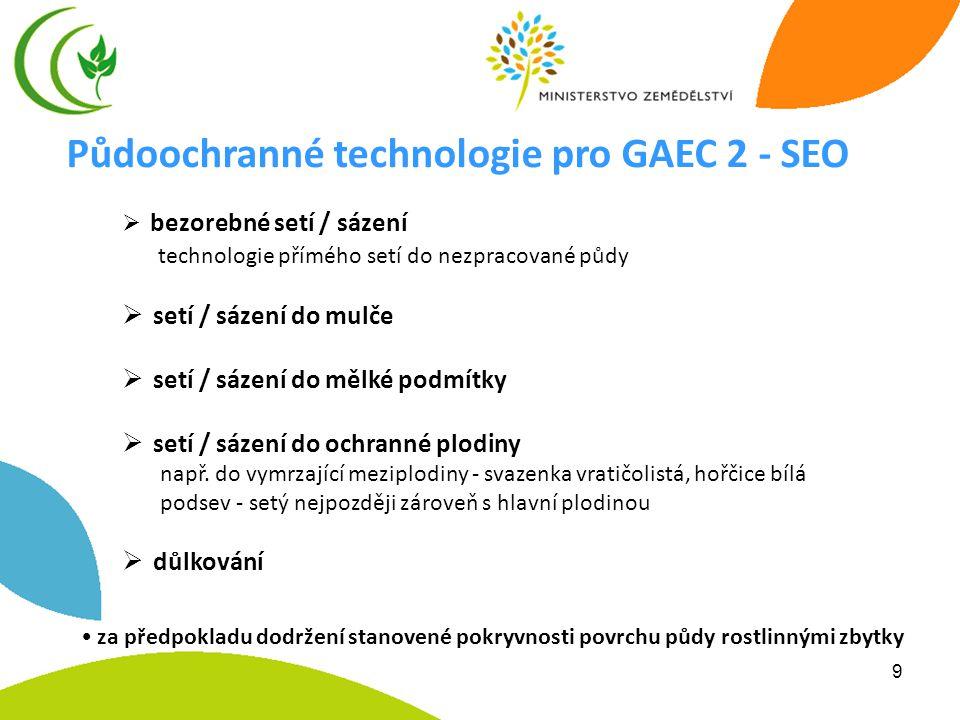 Půdoochranné technologie pro GAEC 2 - SEO