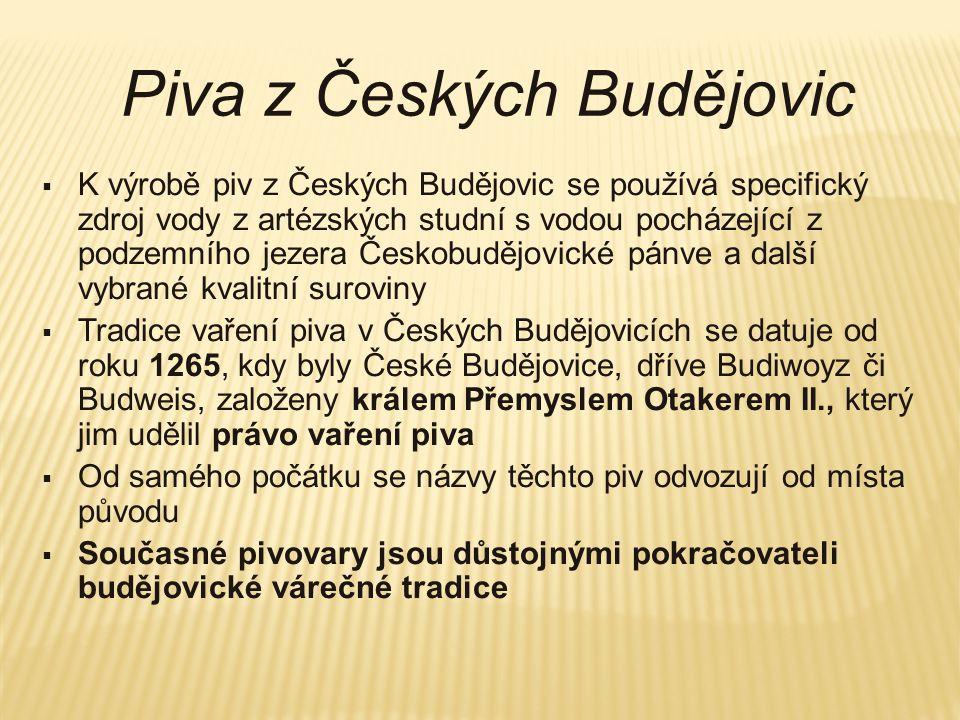 Piva z Českých Budějovic