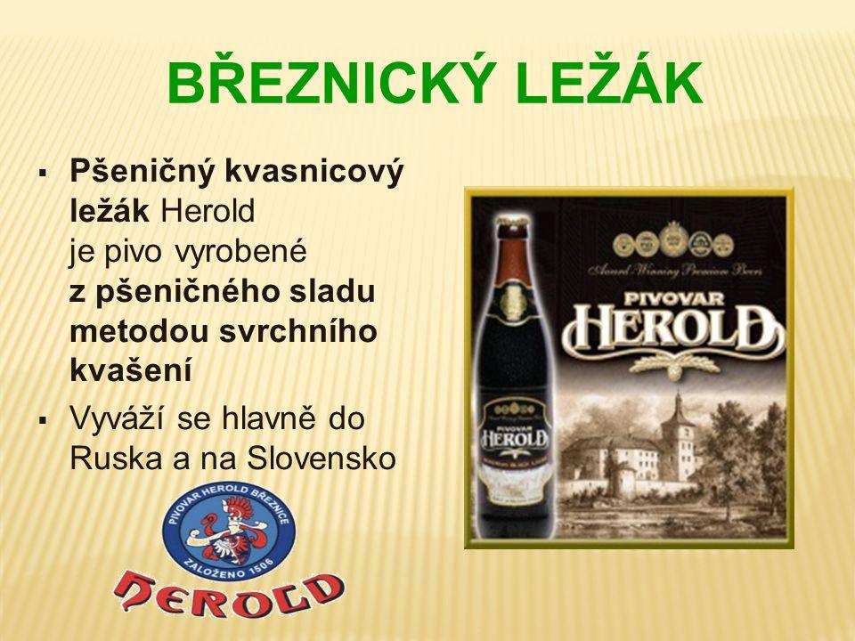 BŘEZNICKÝ LEŽÁK Pšeničný kvasnicový ležák Herold je pivo vyrobené z pšeničného sladu metodou svrchního kvašení.