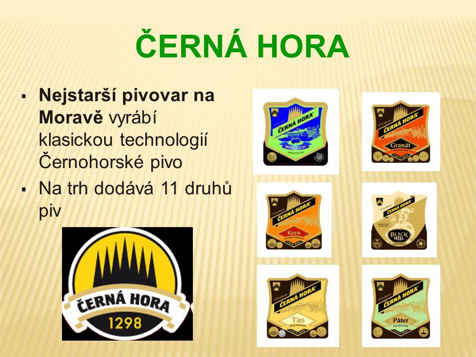 ČERNÁ HORA Nejstarší pivovar na Moravě vyrábí klasickou technologií Černohorské pivo.